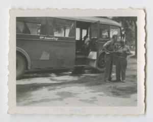 Primary view of object titled '[119th Armored Engineer Battalion Bus]'.