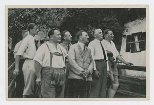 Primary view of object titled '[Adolf Hitler with German Men]'.
