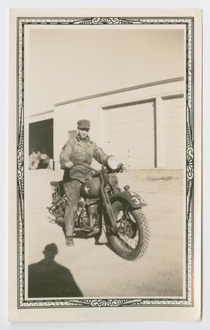 Primary view of object titled '[Soldier on a Motorcycle]'.