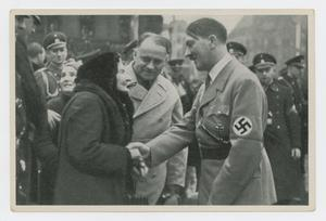 Primary view of object titled '[Adolf Hitler Speaking to a Couple]'.