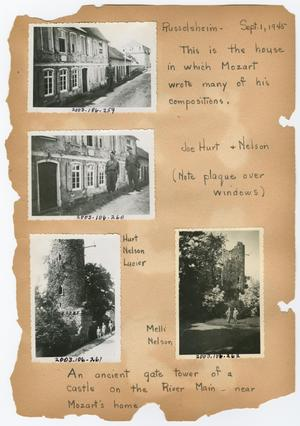Primary view of object titled '[Scrapbook Page: Rüsselsheim - September 1, 1945]'.