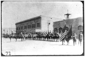 Primary view of object titled '[United States troops at Marfa]'.