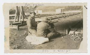 Primary view of object titled '[Soldiers at a Machine Gun]'.