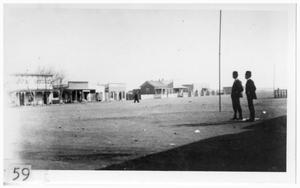 Primary view of object titled '[Early photograph of Marfa]'.