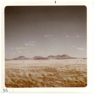 Primary view of object titled '[Barren landscape with small mountains in Big Bend]'.