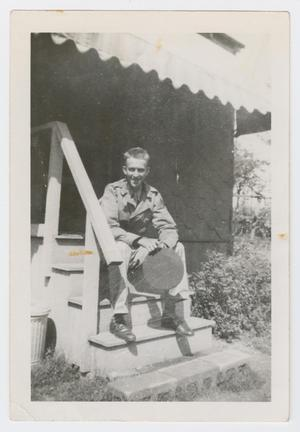 Primary view of object titled '[Soldier on Steps]'.
