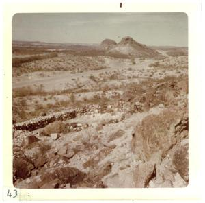 Primary view of object titled '[Craggy desert landscape in Big Bend]'.