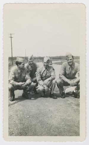 Primary view of object titled '[Four Soldiers at Camp]'.