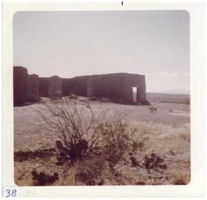 Primary view of object titled '[Wide angle view of Presidio ruins]'.