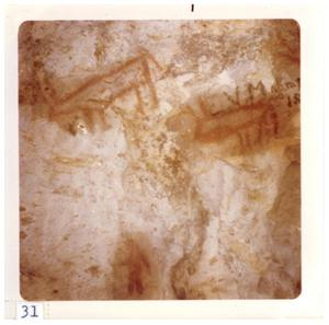 Primary view of object titled '[Big Bend cave painting]'.