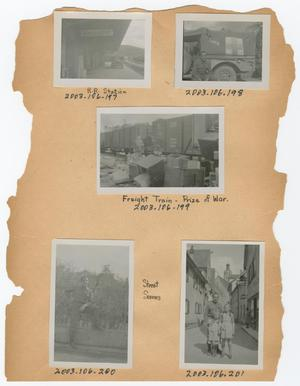 Primary view of object titled '[Dan Melli Scrapbook, Page 1]'.