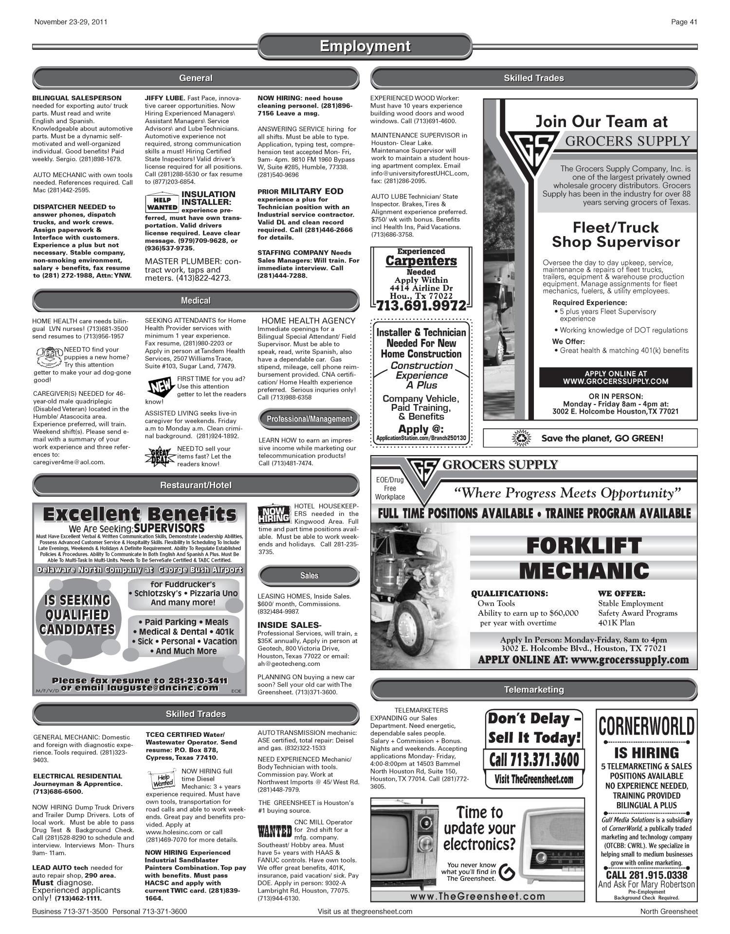 The Greensheet Houston Tex Vol 42 No 509 Ed 1 Thursday