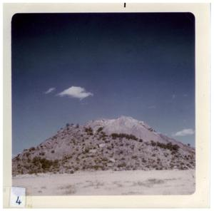 Primary view of object titled '[Close up of Big Bend desert mountain]'.