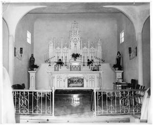 Primary view of object titled '[Altar of Sacred Heart Catholic Church]'.