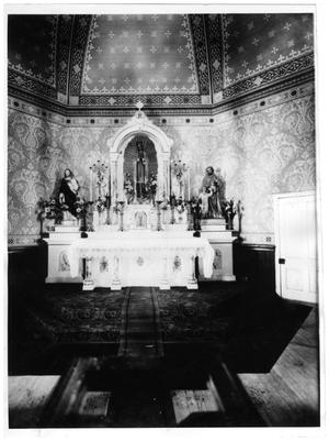 Primary view of object titled '[St. Mary's Catholic church before first renovations]'.