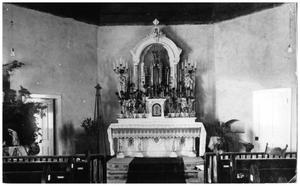 Primary view of object titled '[Altar of St. Mary's Catholic Church in the 1920s]'.