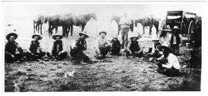 Primary view of object titled '[Ranchers on the Childers family ranch]'.