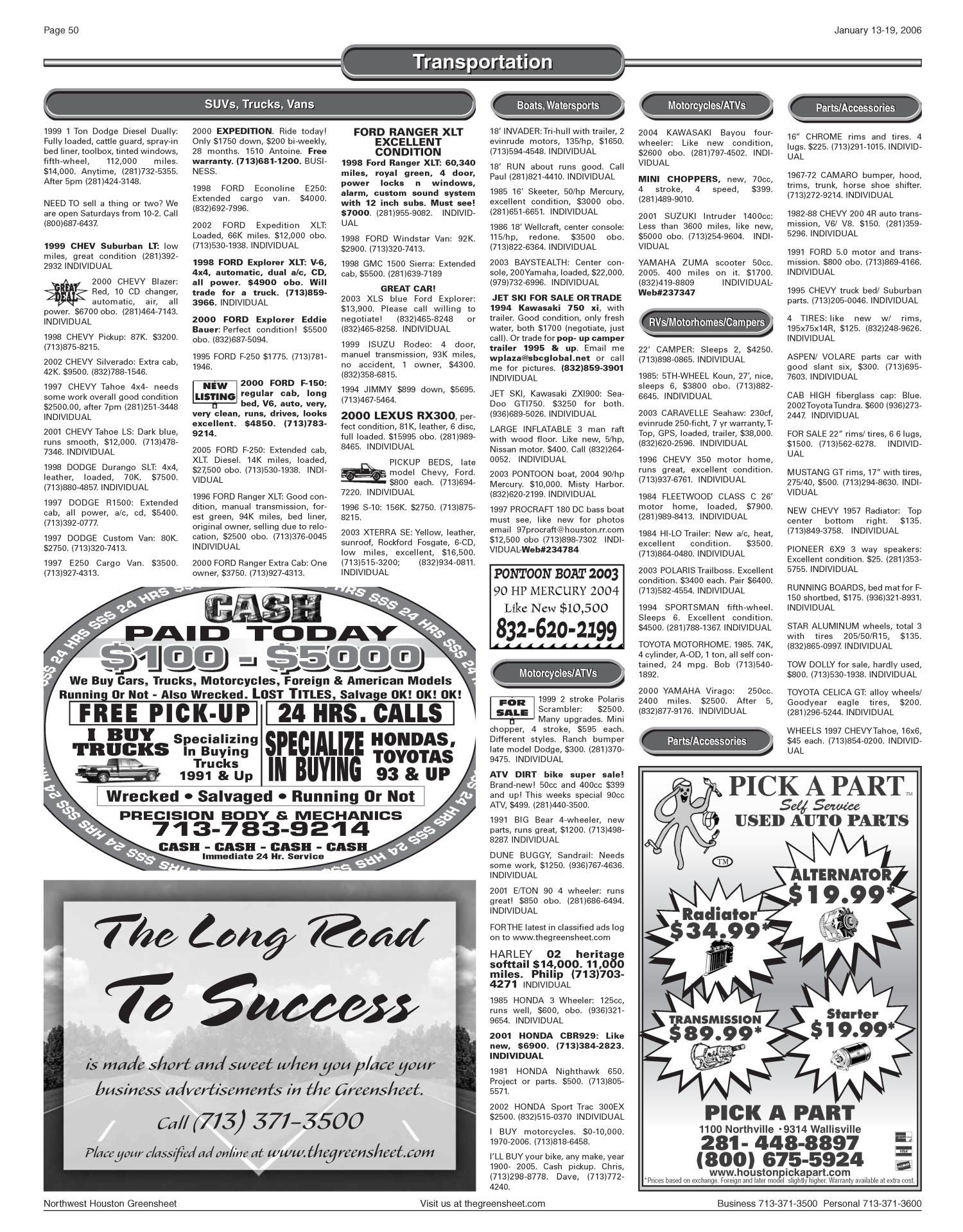 Greensheet (Houston, Tex ), Vol  36, No  587, Ed  1 Friday