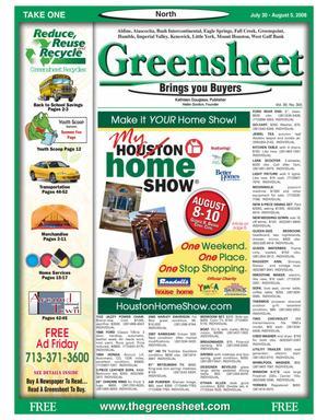 Primary view of Greensheet (Houston, Tex.), Vol. 39, No. 305, Ed. 1 Wednesday, July 30, 2008