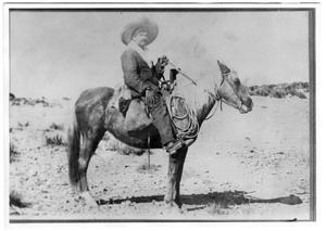 Primary view of object titled 'Andres Alvorado on Horseback'.