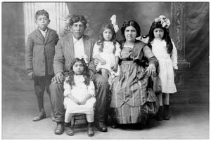 Primary view of object titled 'Silvester Chavira with his Wife and Children'.