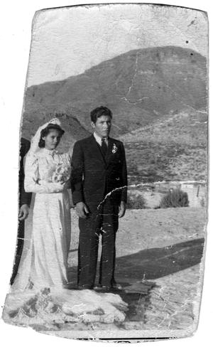 Primary view of object titled 'Caravia Wedding Photo'.