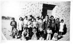 Primary view of object titled '[School with children in Casa Piedra]'.