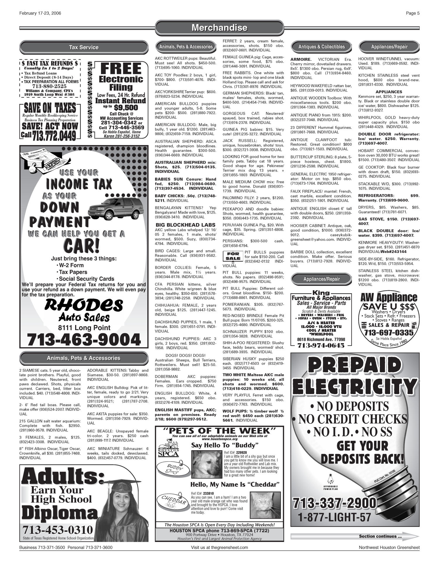 Greensheet (Houston, Tex ), Vol  36, No  647, Ed  1 Friday