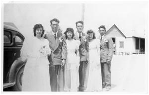 Primary view of object titled 'Wedding Picture of Juana and Franciso Campos, 1948'.