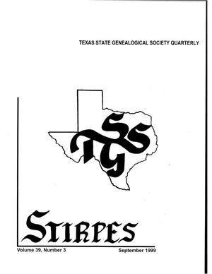 Primary view of object titled 'Stirpes, Volume 39, Number 3, September 1999'.
