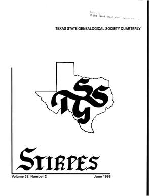 Primary view of object titled 'Stirpes, Volume 38, Number 2, June 1998'.