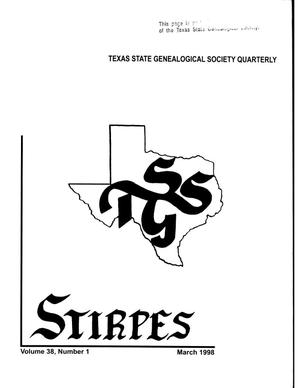Primary view of object titled 'Stirpes, Volume 38, Number 1, March 1998'.