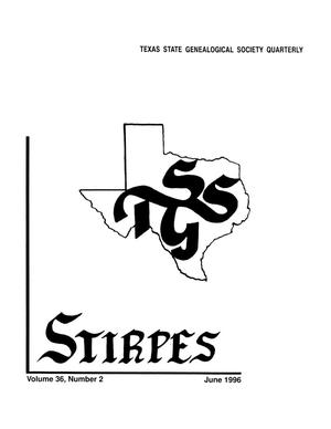 Primary view of object titled 'Stirpes, Volume 36, Number 2, June 1996'.