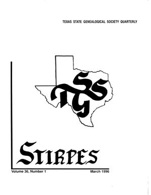 Primary view of object titled 'Stirpes, Volume 36, Number 1, March 1996'.