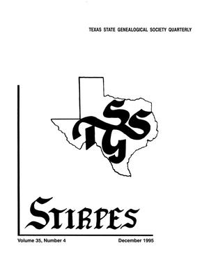 Primary view of object titled 'Stirpes, Volume 35, Number 4, December 1995'.
