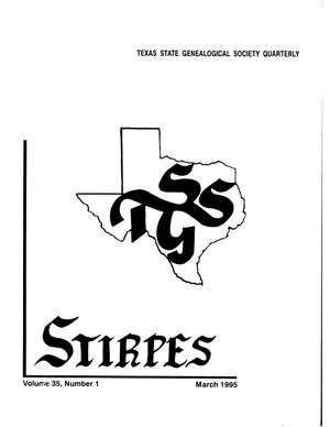 Primary view of object titled 'Stirpes, Volume 35, Number 1, March 1995'.