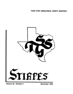 Primary view of object titled 'Stirpes, Volume 33, Number 4, December 1993'.