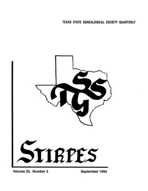 Primary view of object titled 'Stirpes, Volume 33, Number 3, September 1993'.