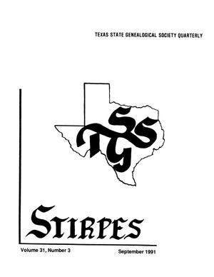 Primary view of object titled 'Stirpes, Volume 31, Number 3, September 1991'.