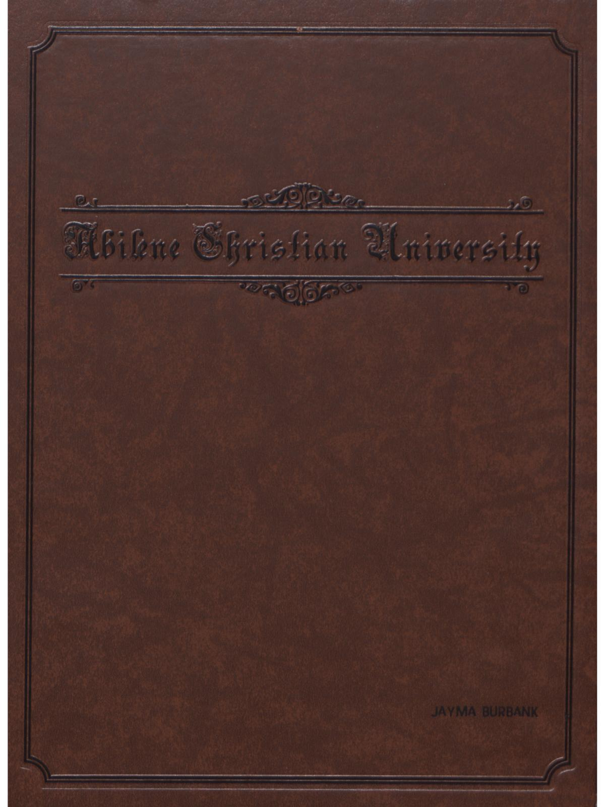 Prickly Pear, Yearbook of Abilene Christian University, 2007                                                                                                      Front Cover