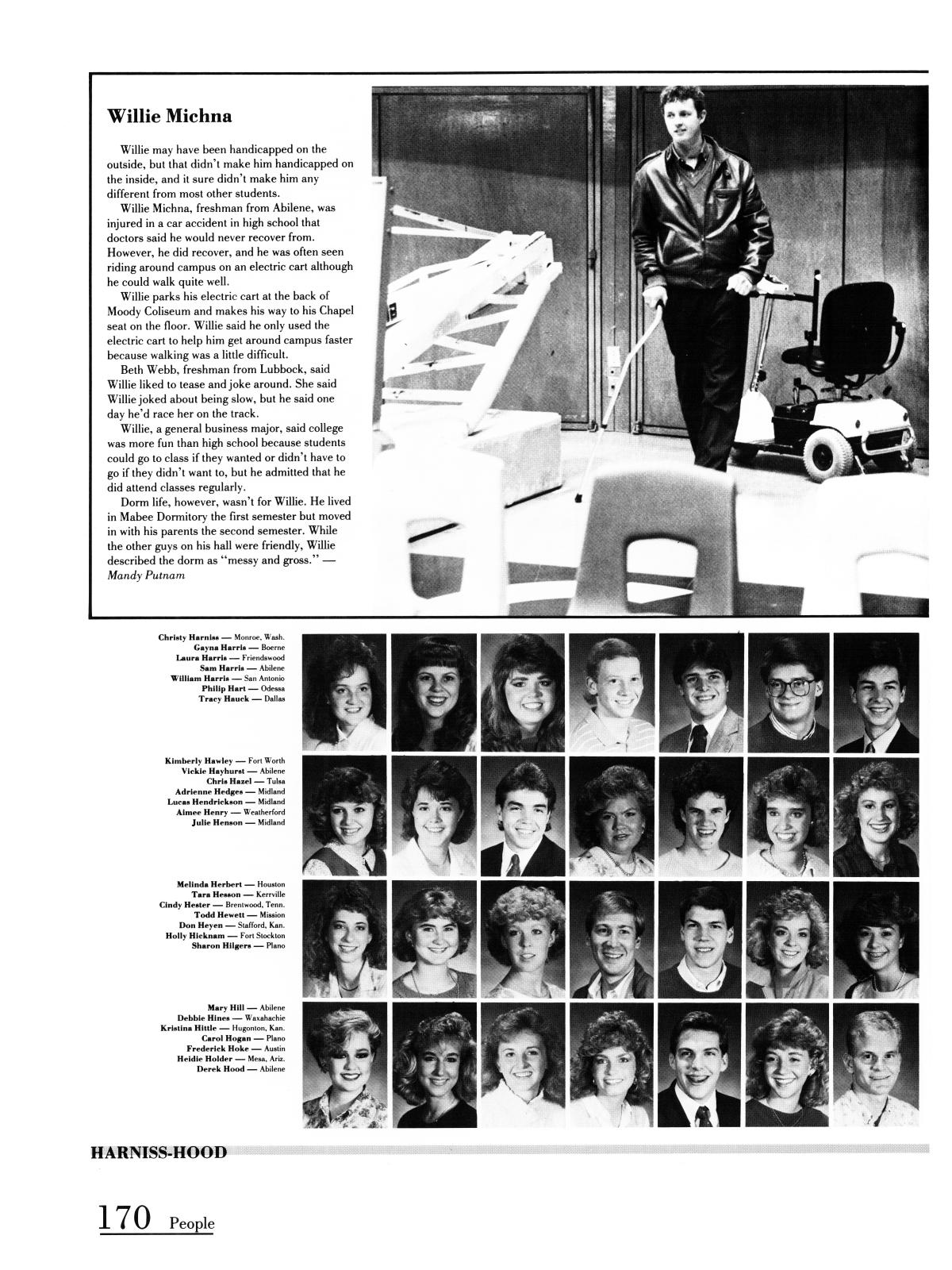 Prickly Pear, Yearbook of Abilene Christian University, 1987 - Page