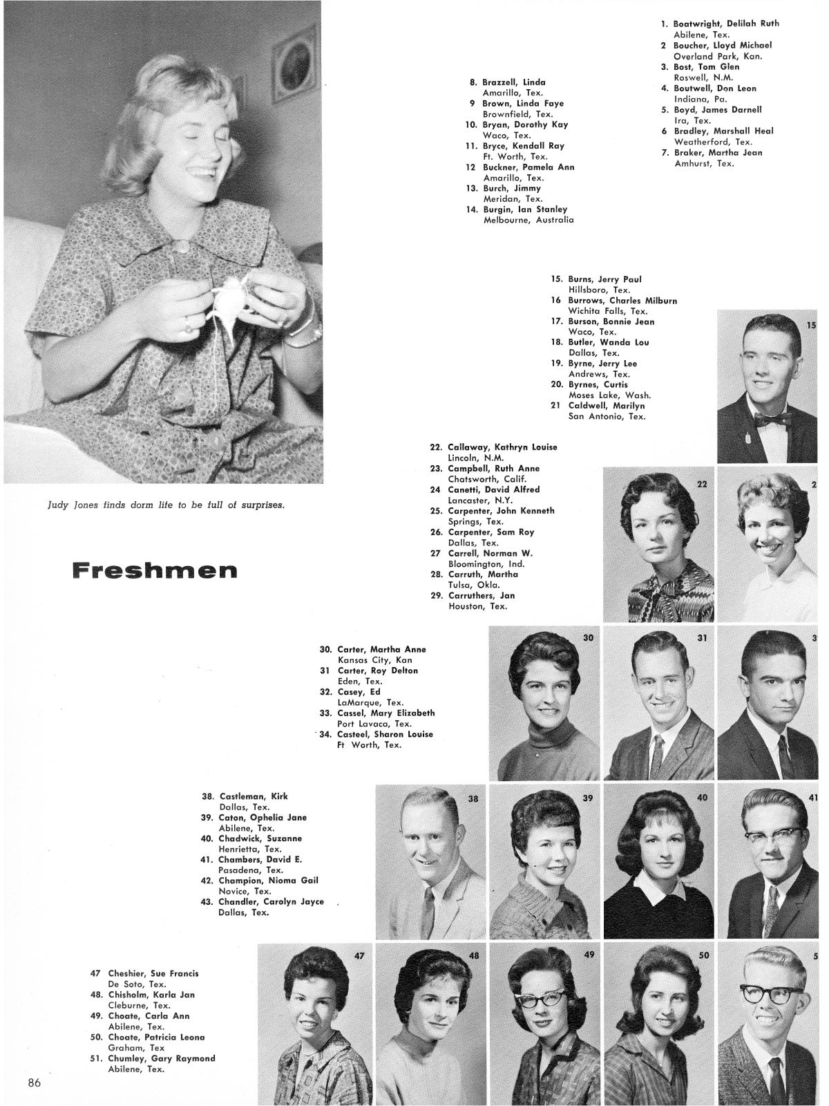 Prickly Pear Yearbook Of Abilene Christian College 1961 Page 86 The Portal To Texas History