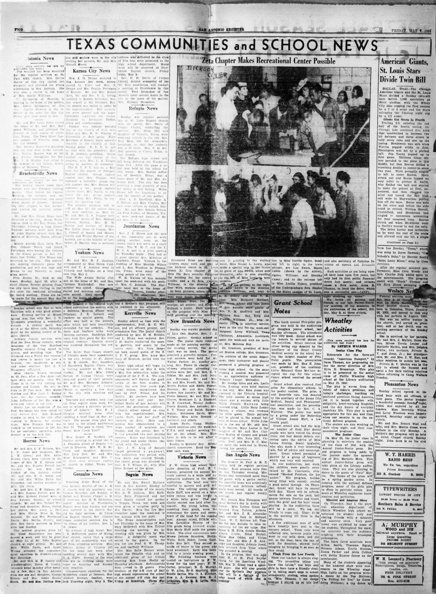 San Antonio Register San Antonio Tex Vol