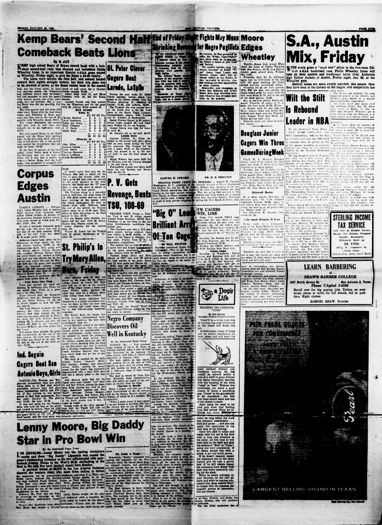 San Antonio Register San Antonio Tex Vol 29 No 42 Ed 1