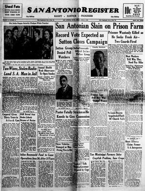 Primary view of San Antonio Register (San Antonio, Tex.), Vol. 18, No. 11, Ed. 1 Friday, April 2, 1948