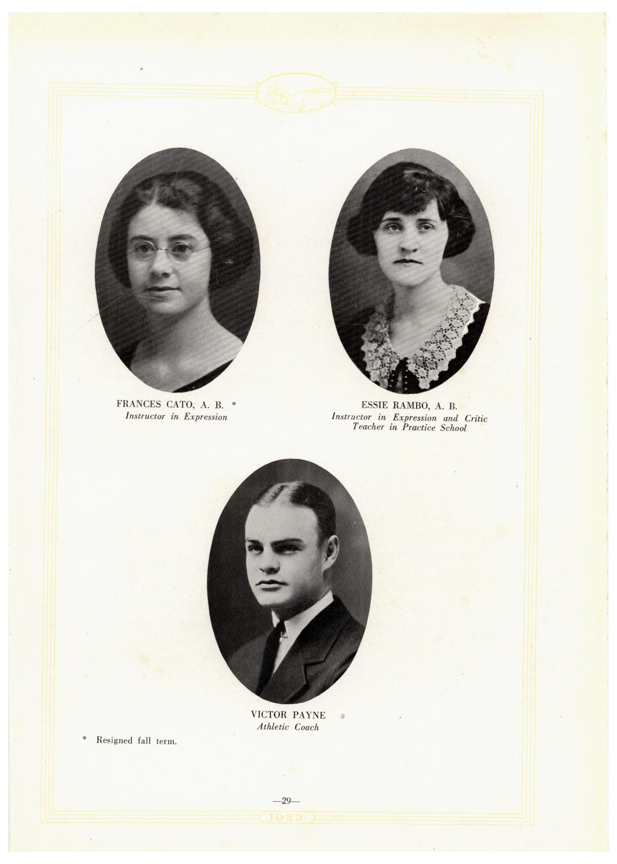 Prickly Pear, Yearbook of Abilene Christian College, 1923                                                                                                      29