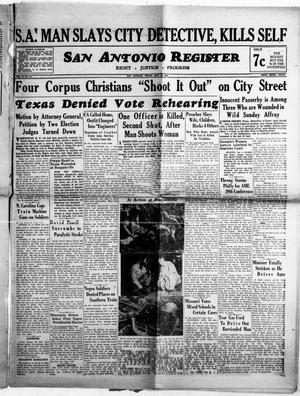 Primary view of object titled 'San Antonio Register (San Antonio, Tex.), Vol. 14, No. 15, Ed. 1 Friday, May 12, 1944'.