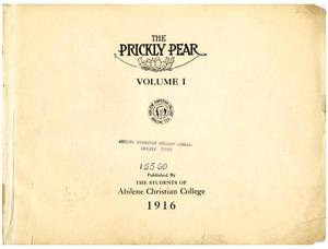 Primary view of object titled 'Prickly Pear, Yearbook of Abilene Christian College, 1916'.