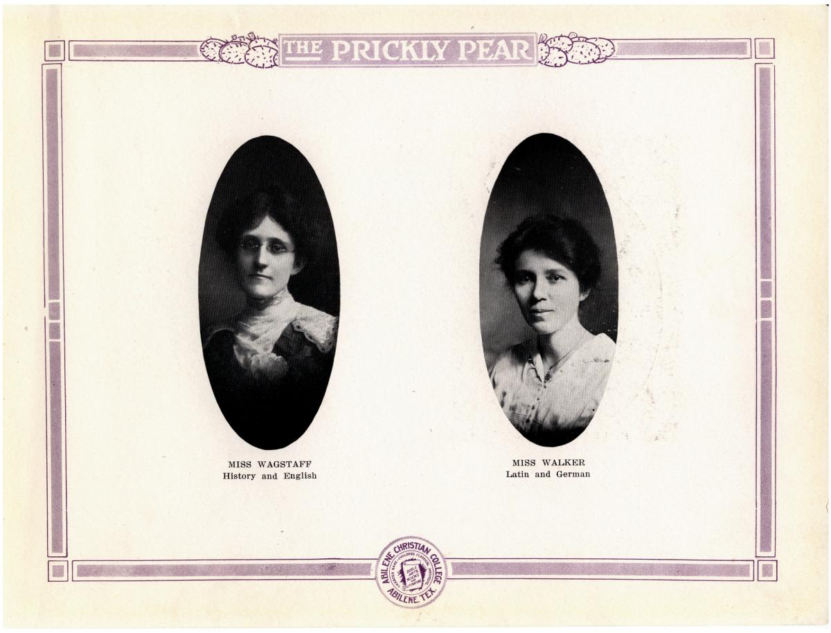 Prickly Pear, Yearbook of Abilene Christian College, 1916                                                                                                      10
