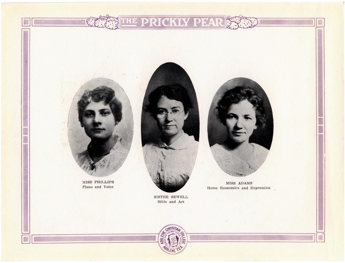 Prickly Pear, Yearbook of Abilene Christian College, 1916                                                                                                      11